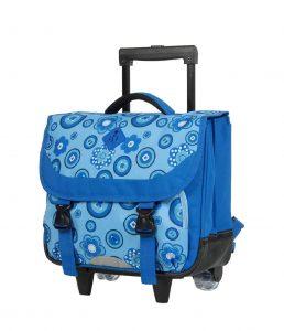 Cartable scolaire à roulettes bleu 65241R