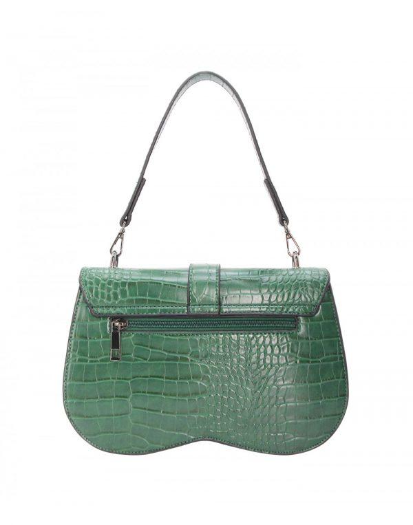 sac à main effet croco vert 1