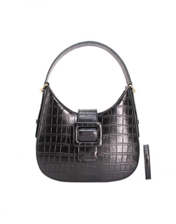 petit sac à main croco noir