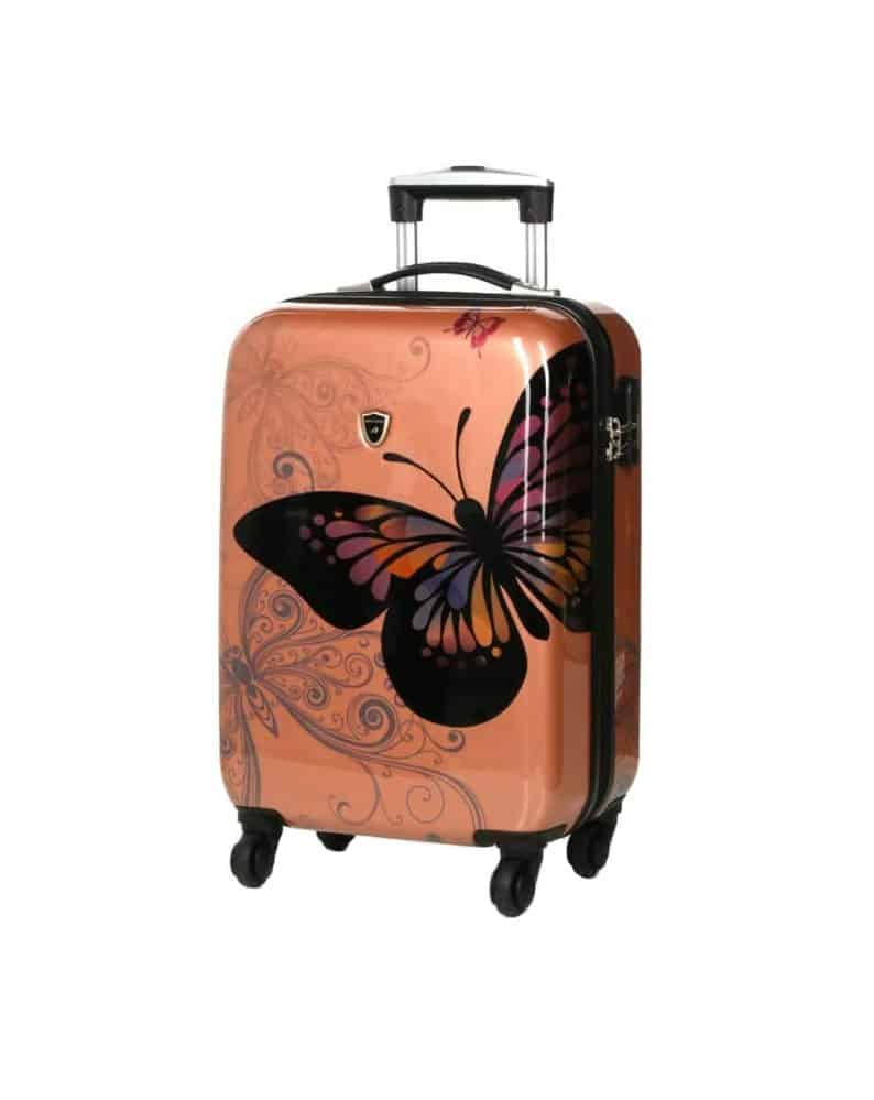 valise cabine 4 roues madisson rose gold