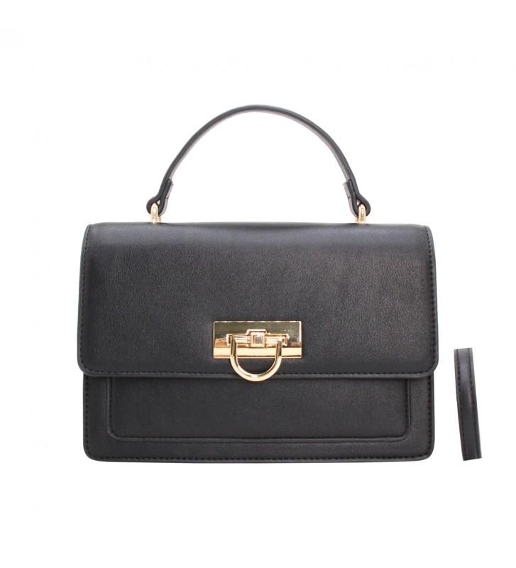 sac à main tricolore noir