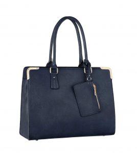sac à main cabas A4 bleu