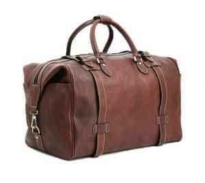sac de voyage en cuir katana marron