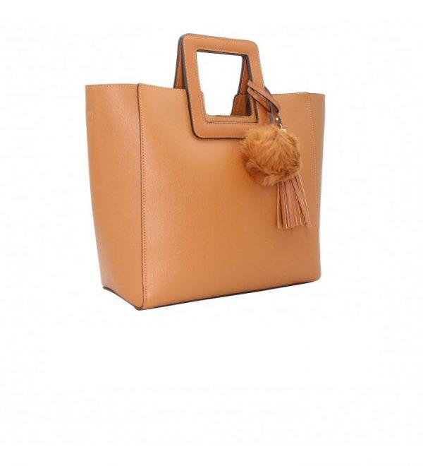 sac à main femme camel trapèze