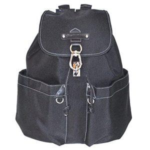 sac à dos en toile et cuir