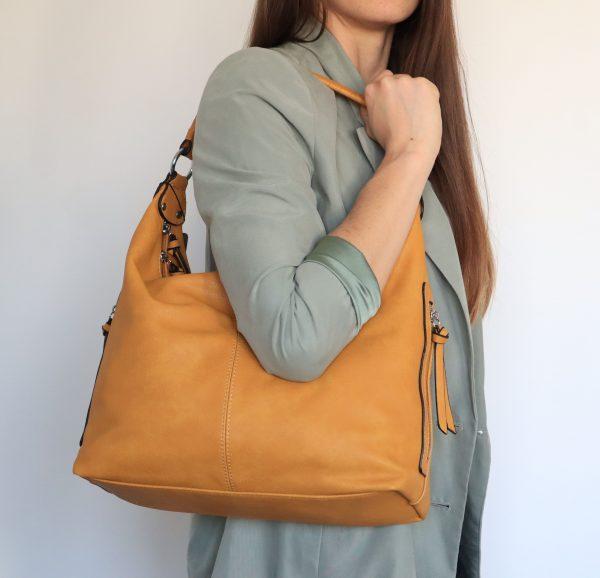 sac à main épaule jaune pour femme