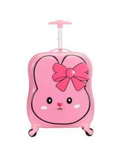valise enfant cabine rose Snowball