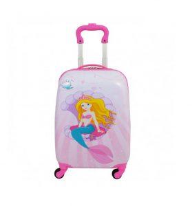 valise pour fille rose sirène snowball