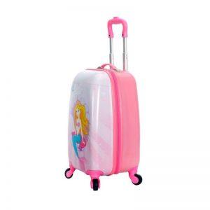 Valise cabine pour fille rose Sirène