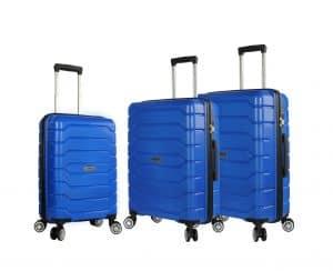 ensemble de 3 valises rigides madisson bleu