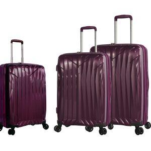 lot valises rigides violet polypropylène 04203