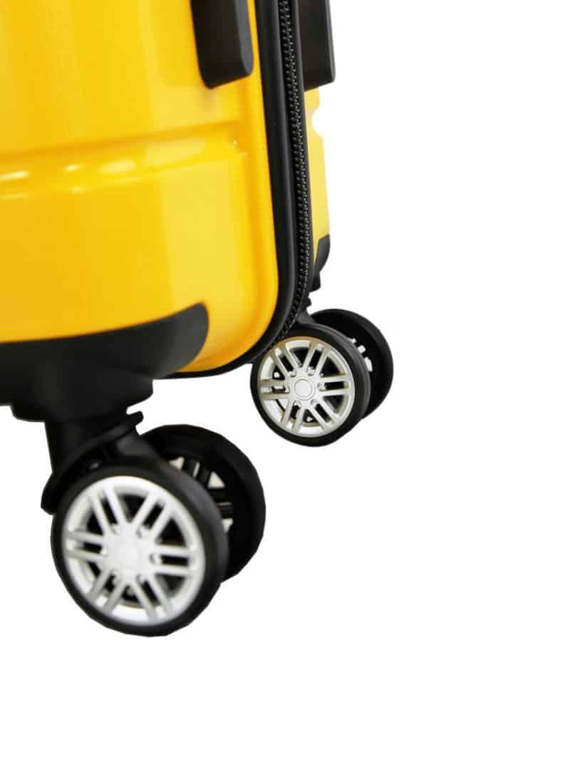 valise rigide jaune madisson roues