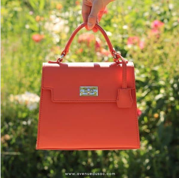 sac à main orange tendance femme