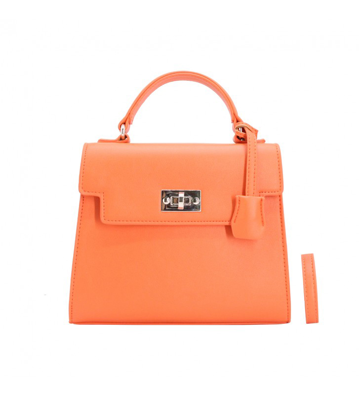 petit sac à main orange tendance 1213