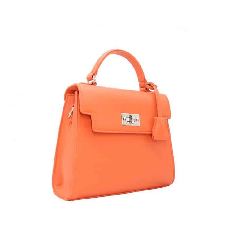 petit sac à main orange tendance orange