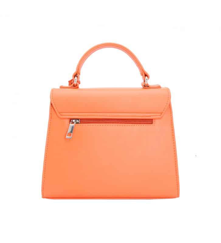 petit sac porté main orange tendance