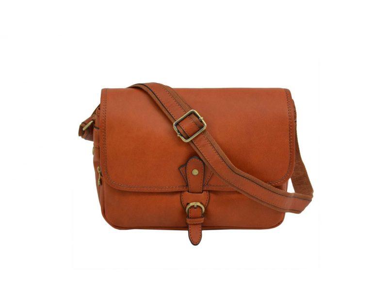sac bandoulière femme en cuir marron katana