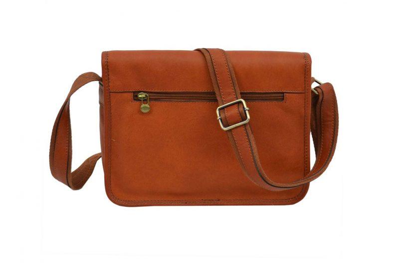 sac bandoulière en cuir marron gold