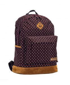 sac à dos enfant à pois snowball marron