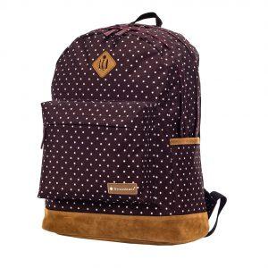 sac à dos à pois snowball marron