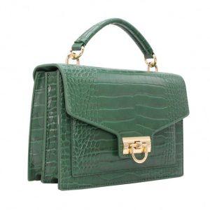 sac à main vert effet croco avenuedusac