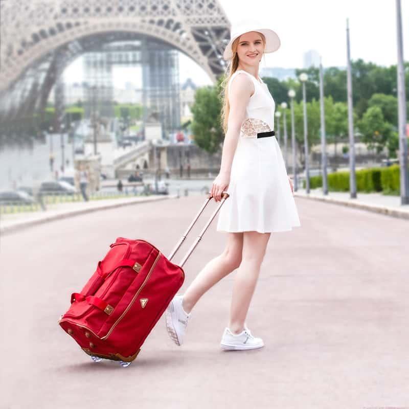 sac de voyage rouge