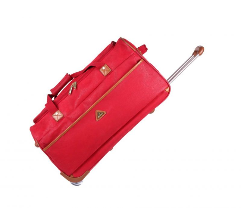 sac de voyage roulettes 72 cm rouge snowball