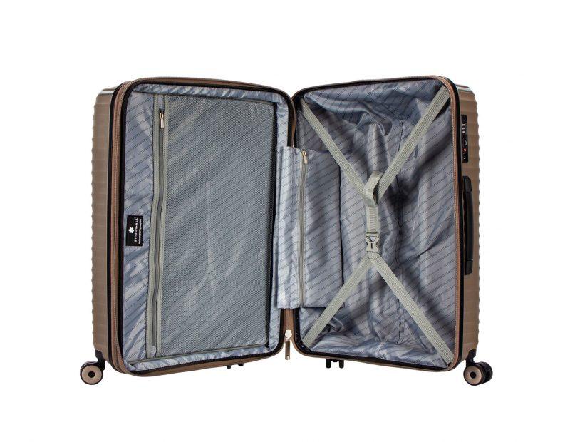 valise grande taille en polypropylène légère snowball tsa