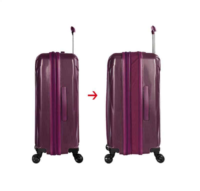valise rigide violet polypropylène 04203