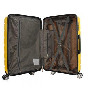 valise rigide jaune madisson interieur