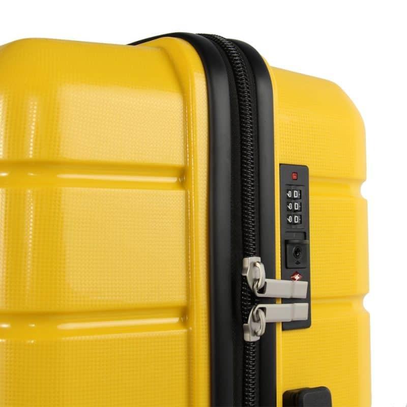 valise rigide jaune madisson Tsa
