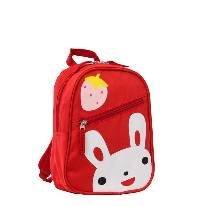 petit sac à dos enfant crèche maternelle rouge