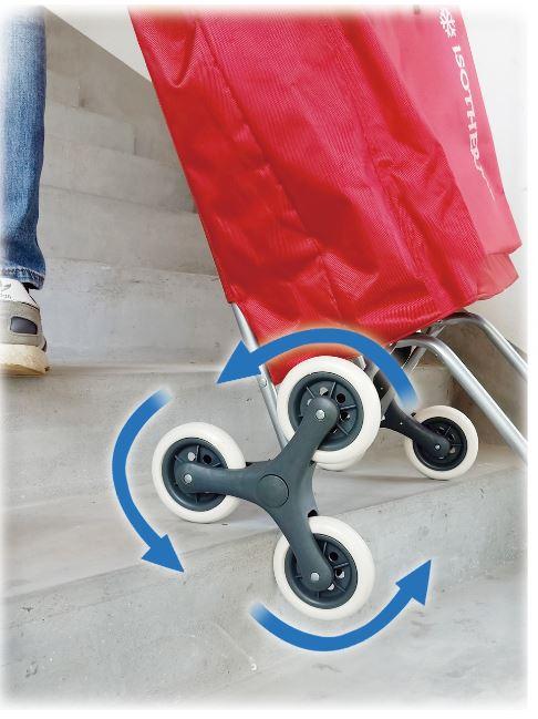 chariot de courses monte escaliers isotherme
