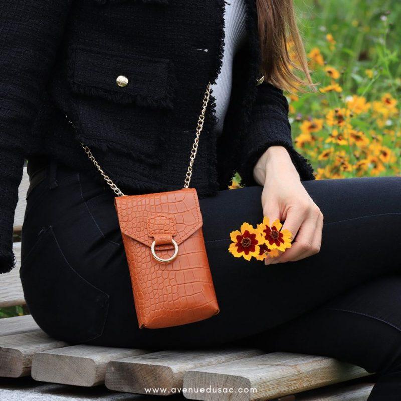 pochette bandoulière ceinture pour téléphone femme