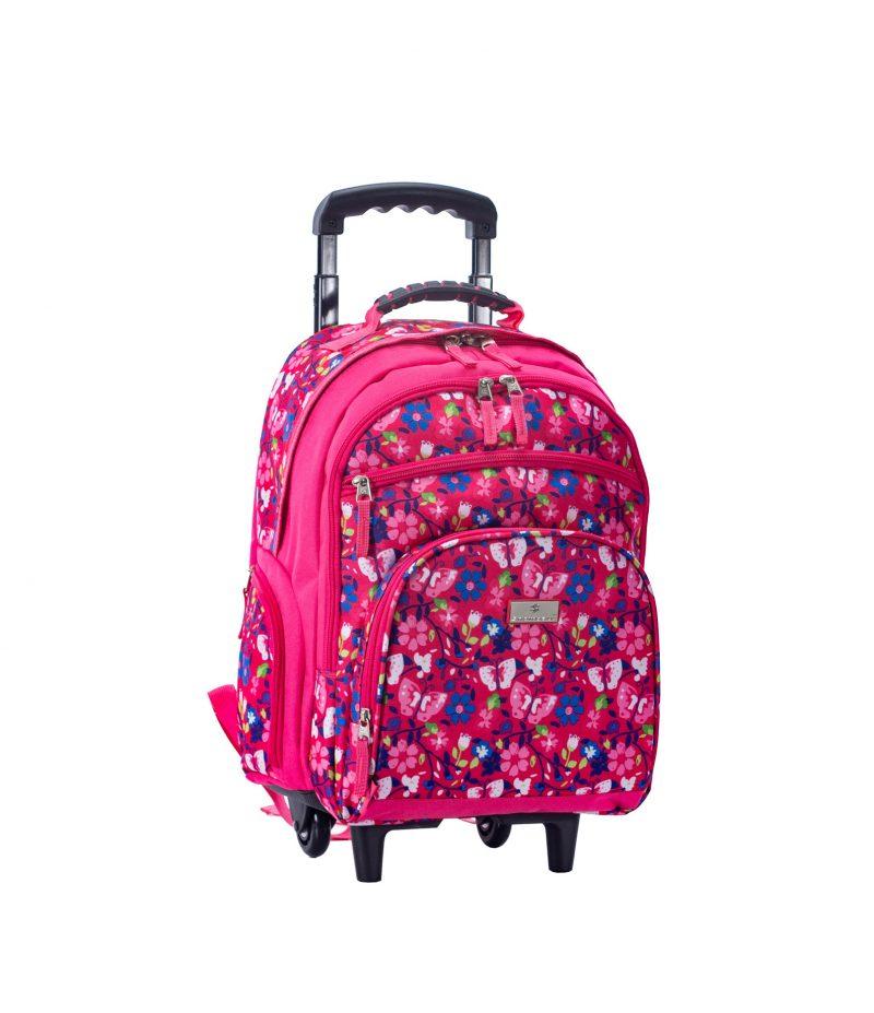 sac à dos à roulettes rose cm1 cm2