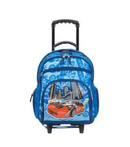 sac à dos scolaire à roulettes enfants bleu