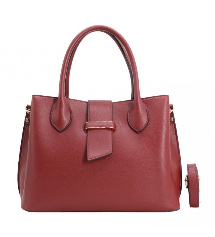 sac porté main cabas pour femme bordeaux