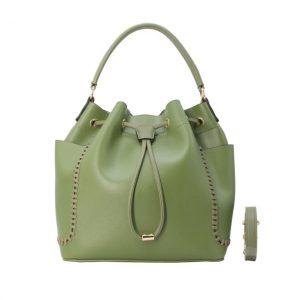 sac seau vert femme