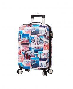 Valise Cabine rigide 55 cm TSA Bleu Snowball. 85803