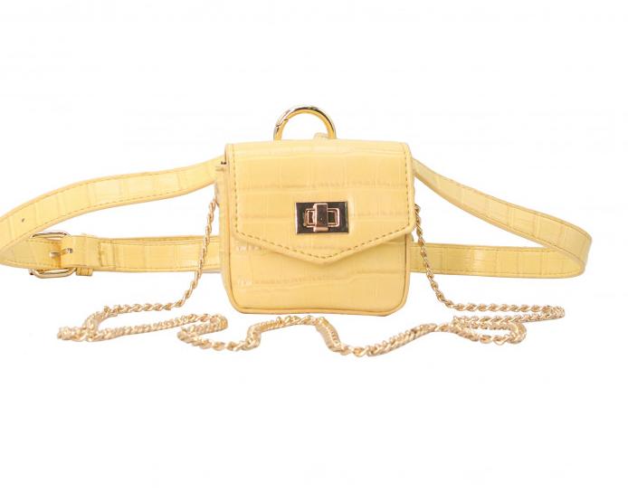 mini sac porte airpods accessoires jaune