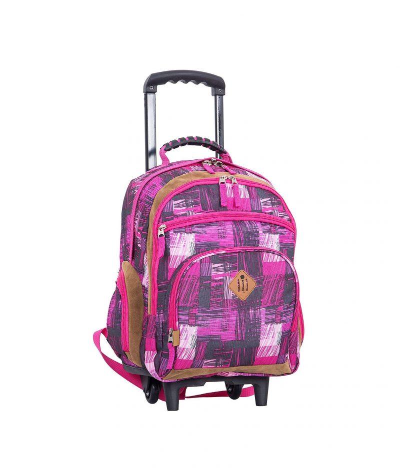 sac à dos à roulettes scolaire CE2 CM1 CM2