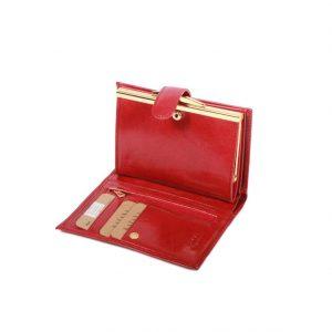 Portefeuille en cuir avec fermoir femme 353010