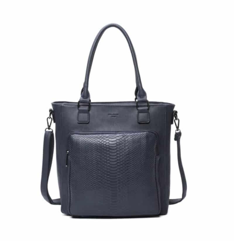 sac cabas A4 bleu pour femme