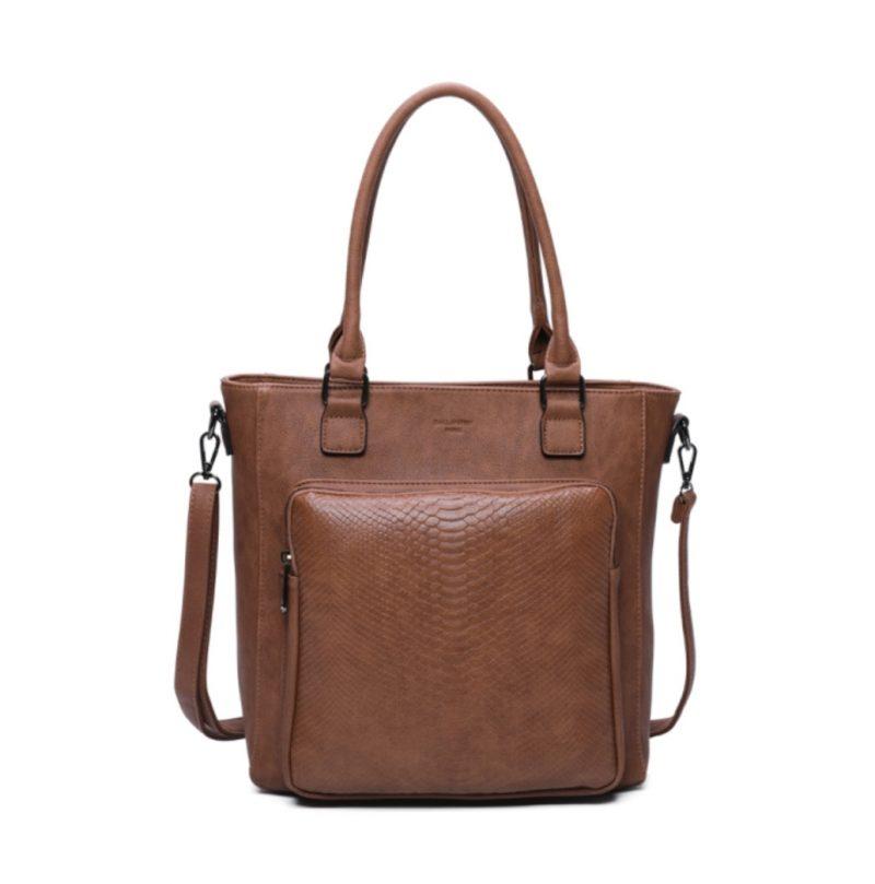 sac cabas A4 marron gallantry