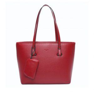 sac cabas de cours A4 pour femme rouge