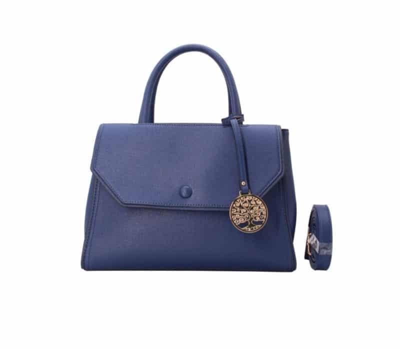 sac à main à rabat bleu