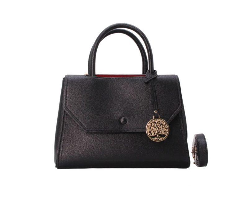 sac à main à rabat noir