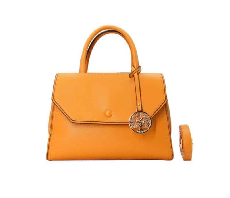 sac à main à rabat orange