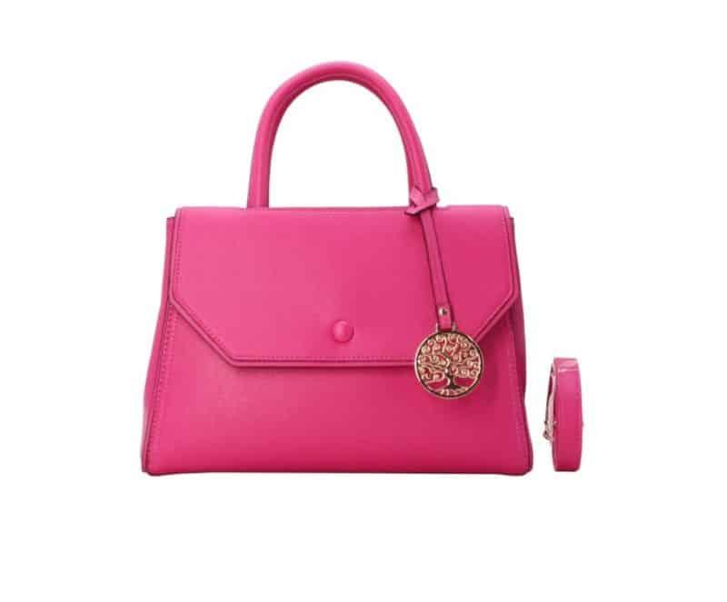 sac à main à rabat rose