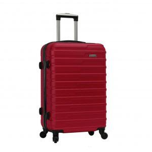 valise cabine rigide 4 roues rouge madisson